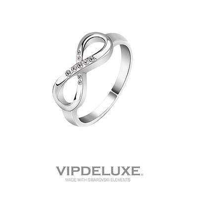 Luce este original anillo con el símbolo del infinito fabricado en Swarovski Elements ¡Te encantará!