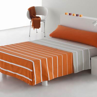 Cama 150 cm J. sábanas 3 piezas Álex - naranja