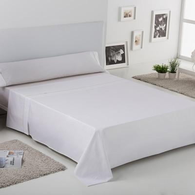 Cama 90 cm J. Sábanas 3 piezas Liso Bies - blanco