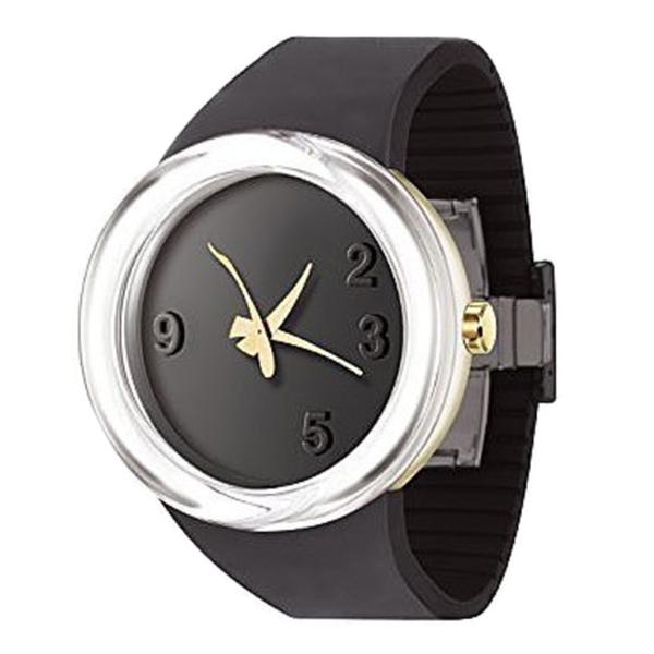 Reloj analógico silicona unisex - negro