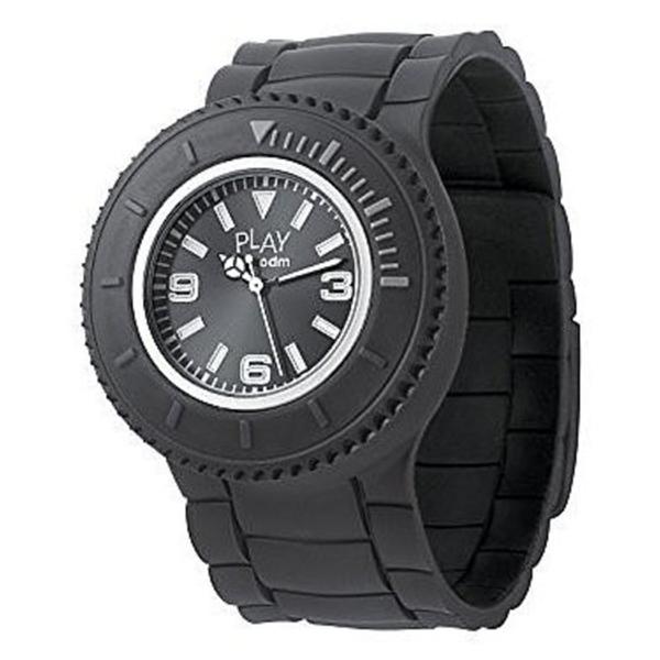 Reloj analógico unisex silicona - negro