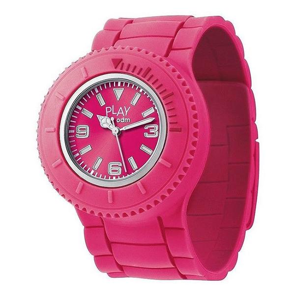 Reloj analógico silicona unisex - rosa