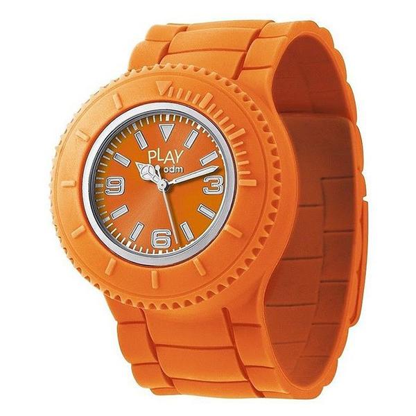 Reloj analógico unisex silicona - naranja