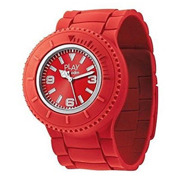 Reloj analógico silicona unisex - rojo