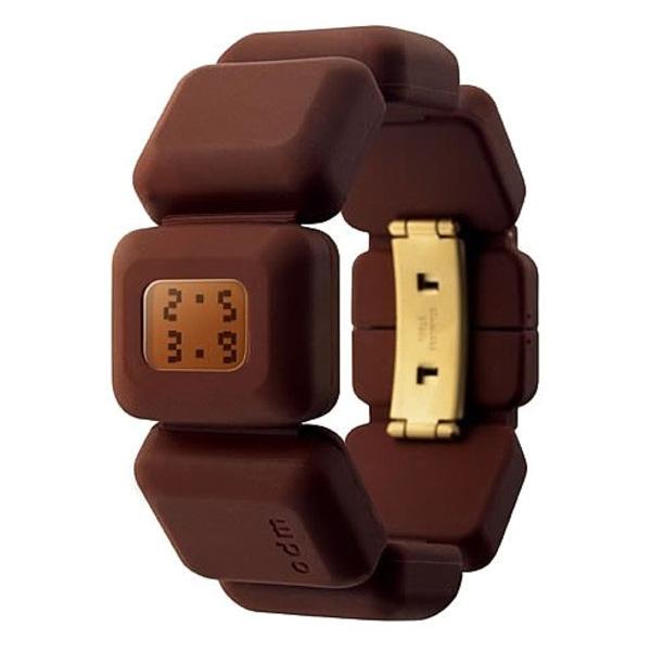 Reloj mujer digital silicon/resina - chocolate