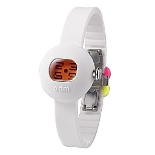 Reloj mujer digital silicona/resina - blanco/naranja