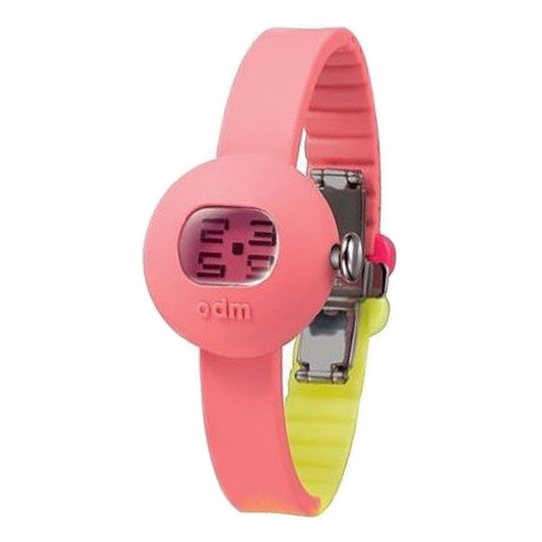 Reloj mujer digital silicona/resina - rosa/amarillo