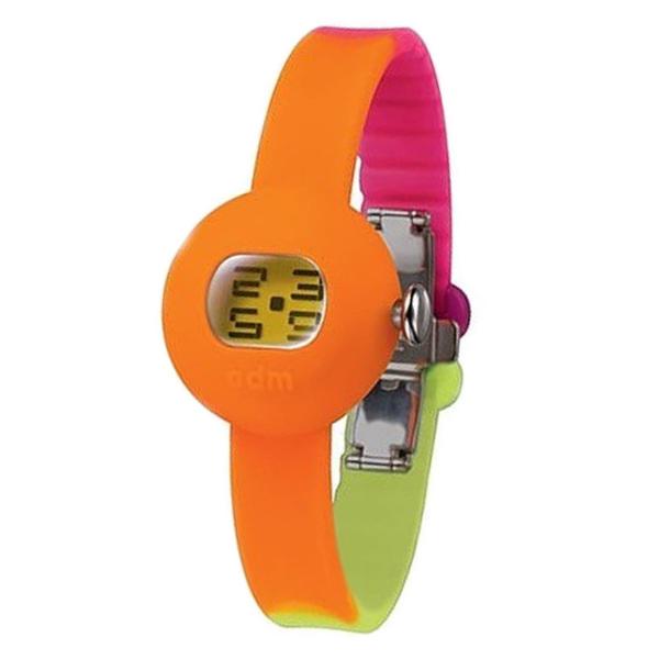 Reloj digital silicona/resina mujer - naranja/amarillo/fucsia