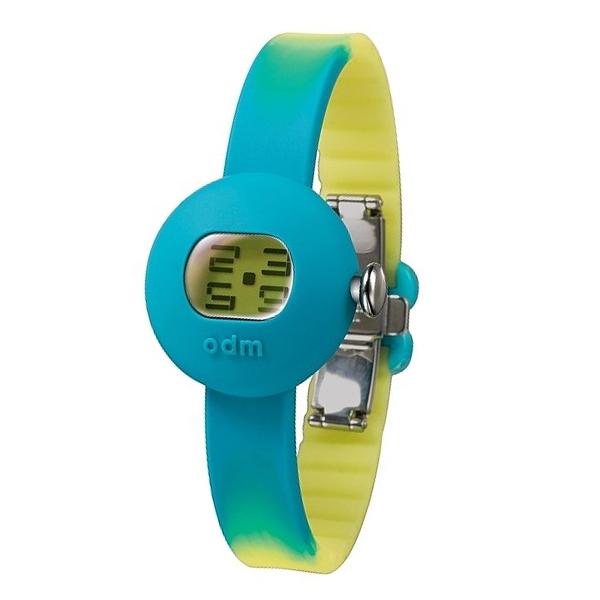 Reloj digital silicona/resina mujer - turquesa/amarillo