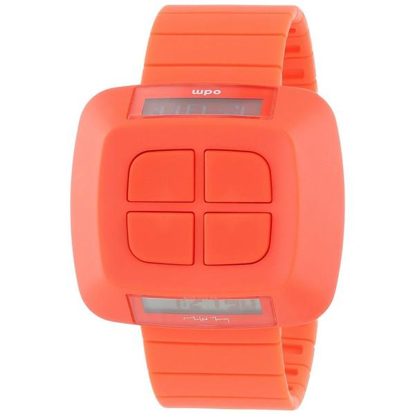Reloj digital plástico unisex - rojo