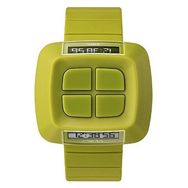 Reloj digital plástico unisex - pistacho