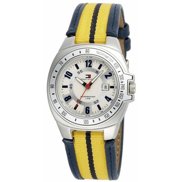 Reloj analógico mujer - azul/amarillo
