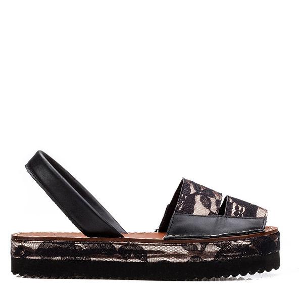 3cm Abarca plataforma mujer Leste - cobre/negro