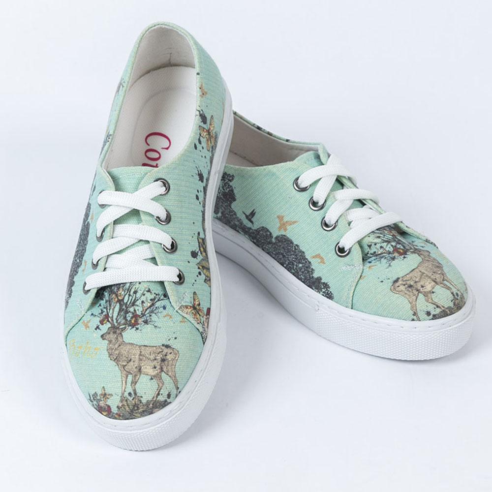 Sneaker plana mujer - multicolor