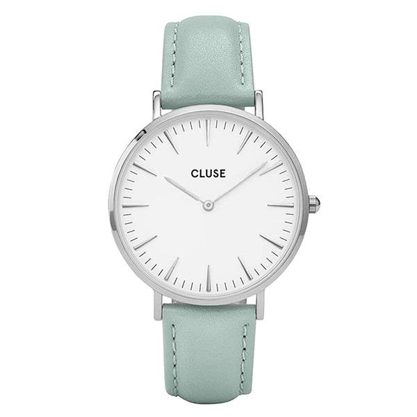 Reloj mujer analógico piel/acero - verde claro