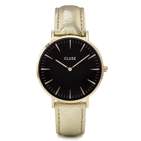 Reloj analógico mujer piel - dorado