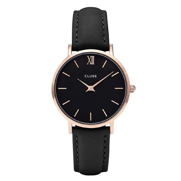 Reloj mujer analógico 33mm acero - negro