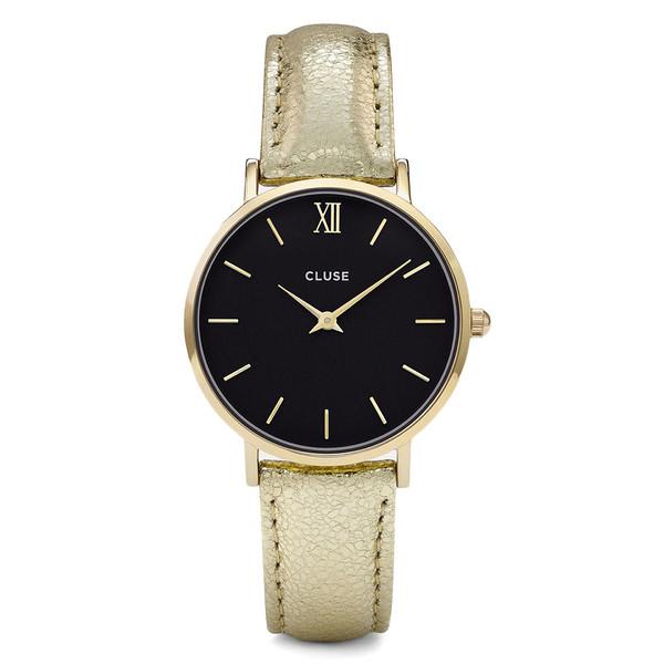 Reloj mujer analógico piel - dorado