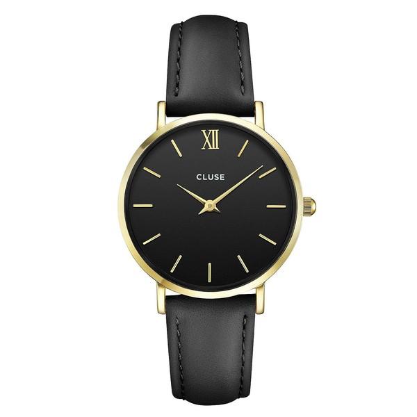 Reloj mujer analógico acero inox - negro