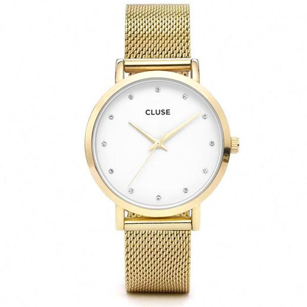 Reloj mujer acero analógico acero - dorado/blanco