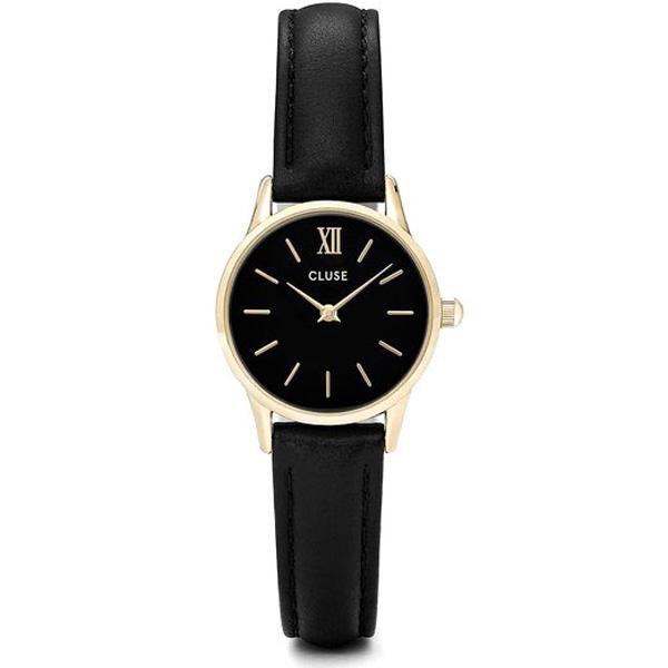 Reloj analógico mujer cuero - negro/dorado