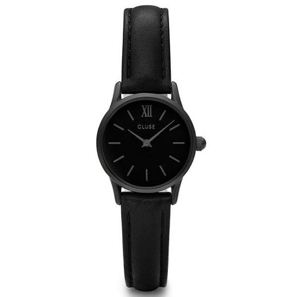 Reloj mujer analógico acero/piel - negro