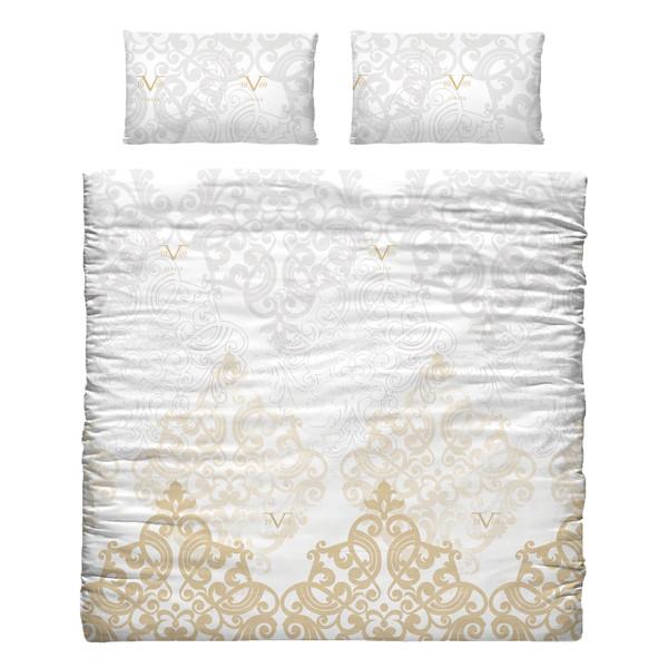 Funda nordica 2 funda almohada para cama 135cm oro for Funda nordica cama 80