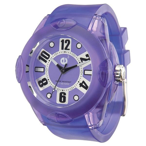 Reloj analógico unisex caucho - lila