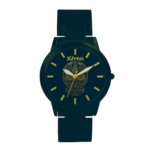 Reloj analógico acero unisex - negro
