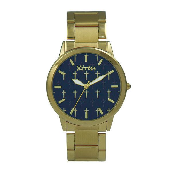 Reloj analógico acero unisex - dorado