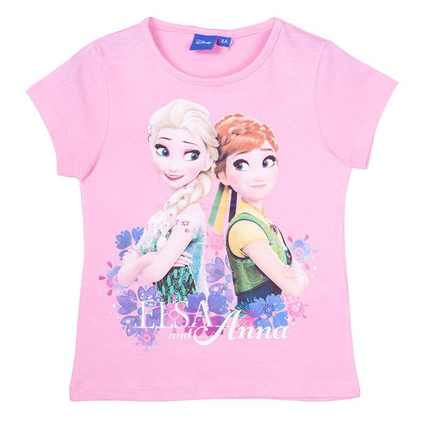 Camiseta Frozen infantil - rosa
