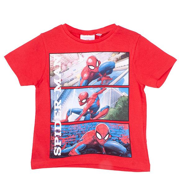 Camiseta Spiderman infantil - celeste