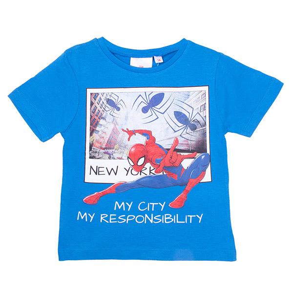 Camiseta Spiderman infantil - azul