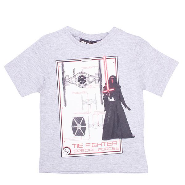 Camiseta Star Wars infantil - gris