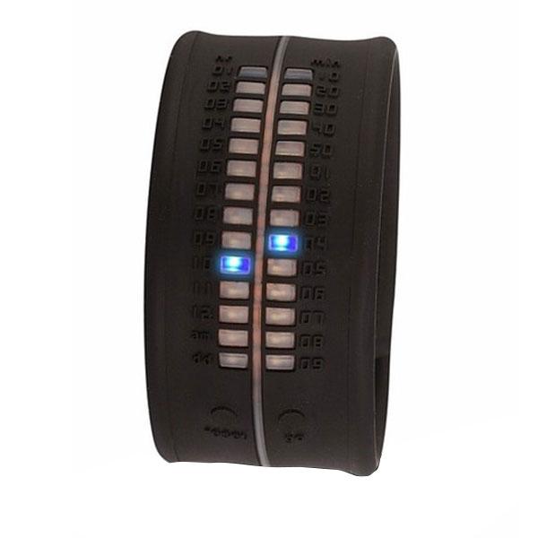 Reloj digital silicona unisex - negro