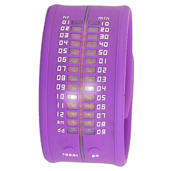Reloj digital silicona unisex flexible - lila