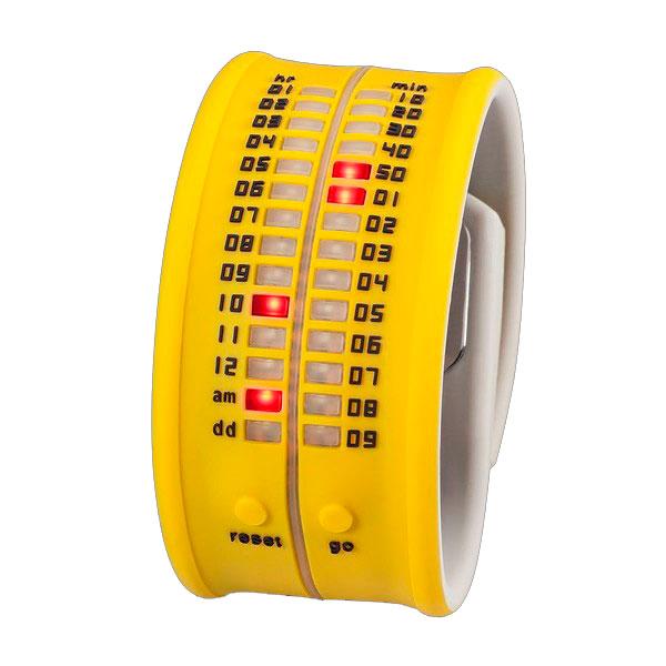 Reloj digital silicona unisex - amarillo