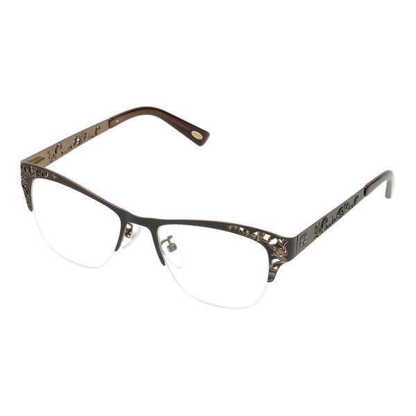 Gafas de vista metal mujer - bronceado