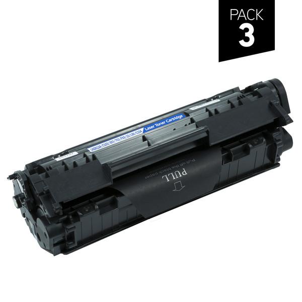 Pack 3 Tóner genérico zp-hp q2612a