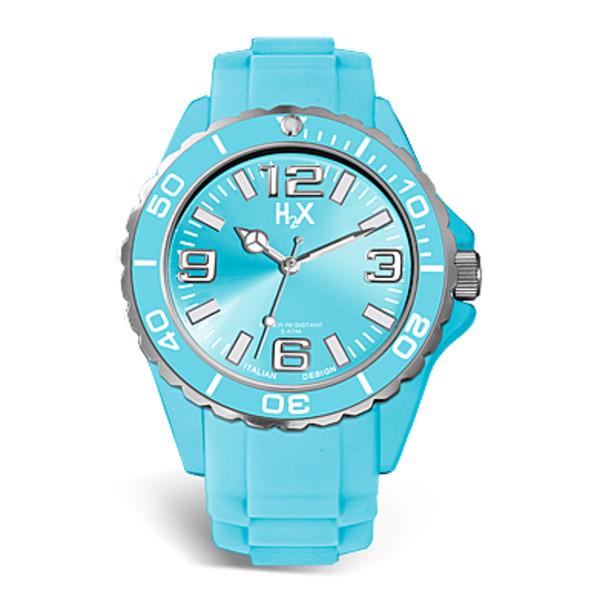 Reloj analógico caucho mujer - azul