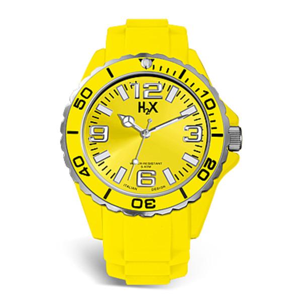 Reloj analógico mujer caucho - amarillo