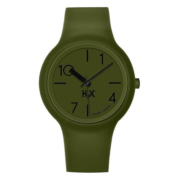 882e76dd0b22 Reloj unisex analógico acero caucho - verde HAUREX SV390UV1