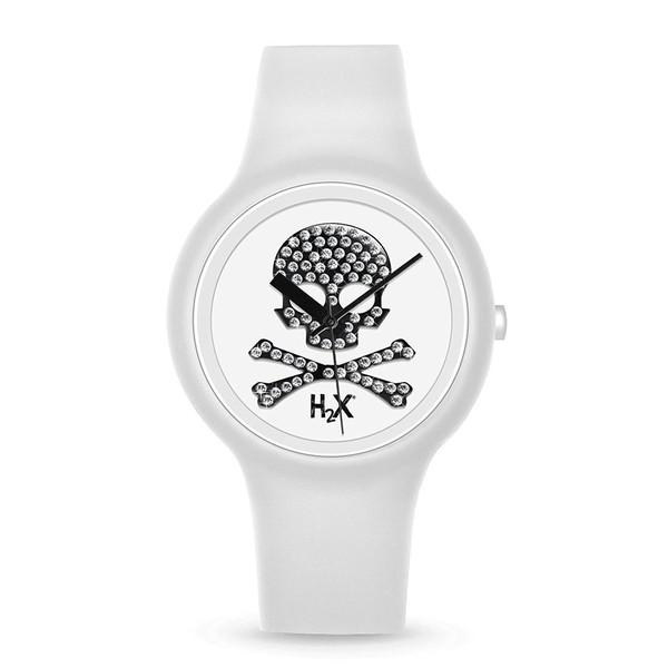 Reloj analógico mujer caucho - blanco