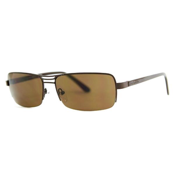 Gafas de sol de mujer calibre 61 acetato/metal - marrón