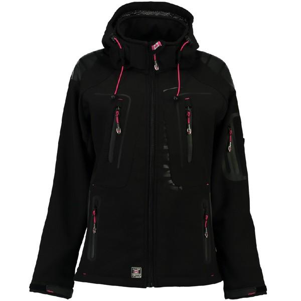 Parka mujer  - negro/rosa fluor