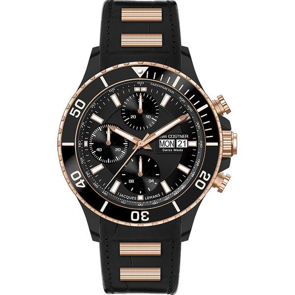 Reloj analógico caucho hombre - negro