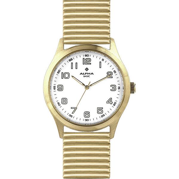 Reloj analógico unisex acero - dorado