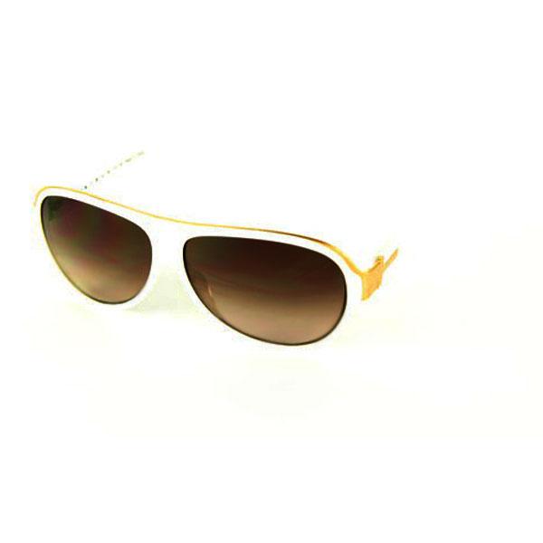 Gafas de sol acetato unisex - blanco