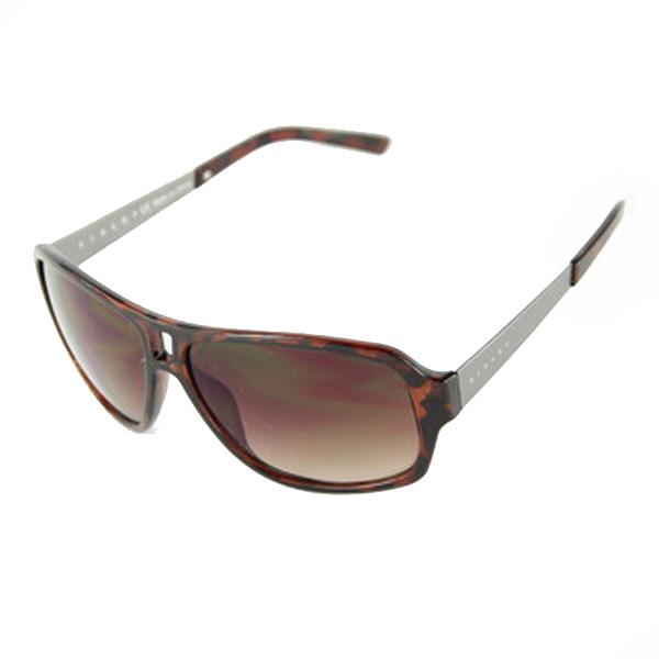 Gafas de sol acetato/metal unisex - havana