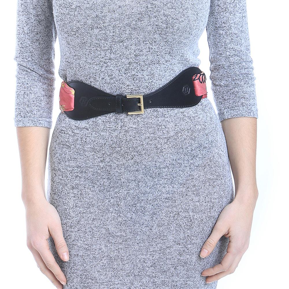 Cinturón pañuelo - negro/dorado